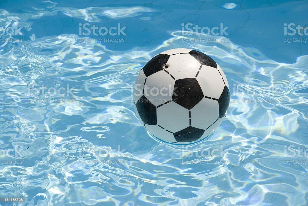 Football on water stock photo