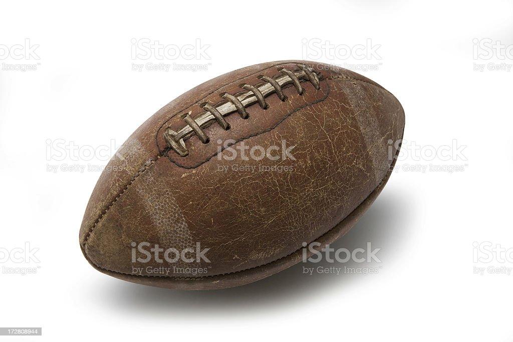 Football on white royalty-free stock photo