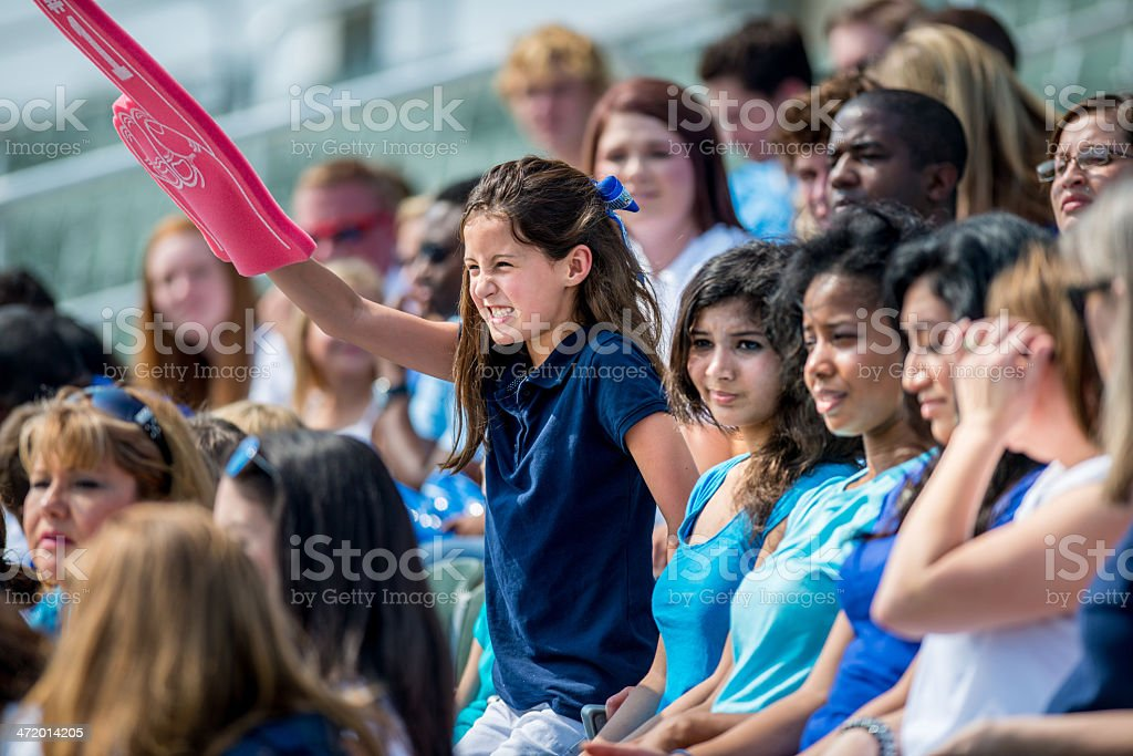 Football or Baseball Fans at Event royalty-free stock photo