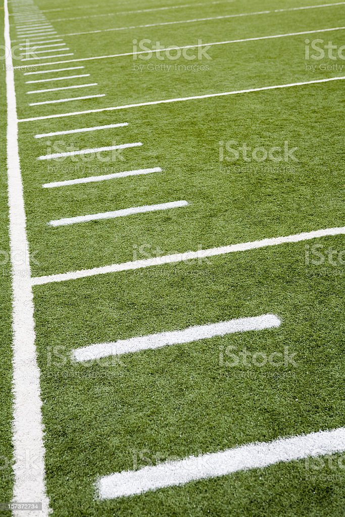 Football or soccer field line markings stock photo