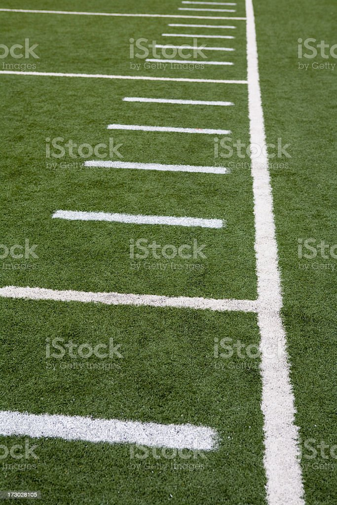 Football or soccer field line markings royalty-free stock photo