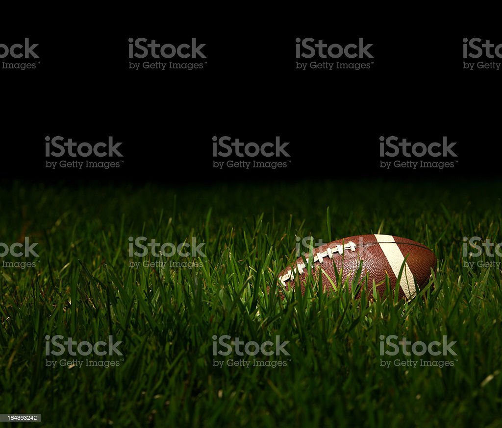 Football Overgrown with Grass stock photo