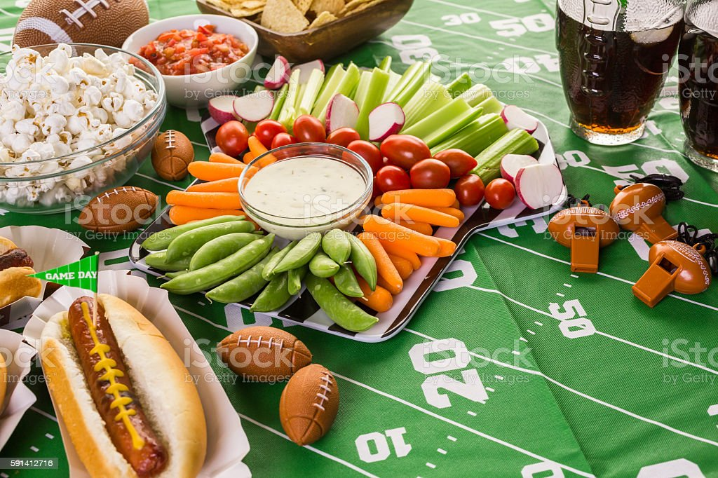 Football party stock photo