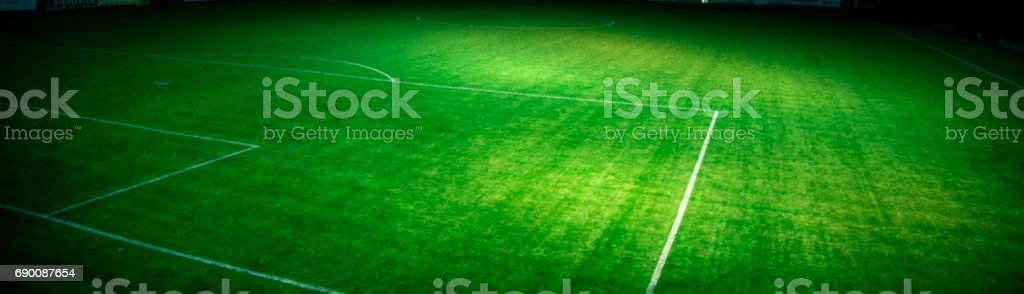 The artificial turf of a socceer field in Austria