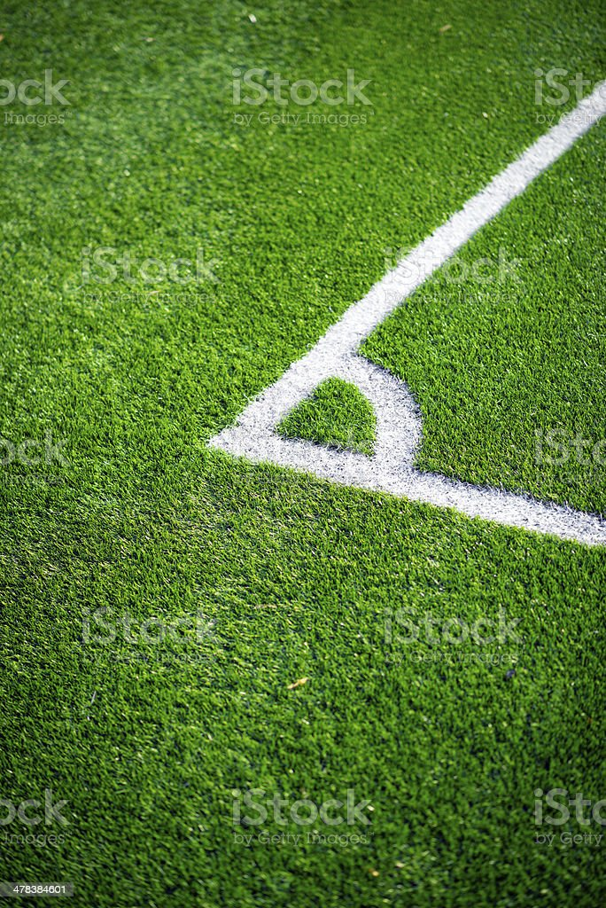 Football pitch corner kick royalty-free stock photo