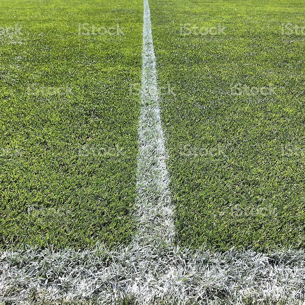 Football pitch halfway line royalty-free stock photo