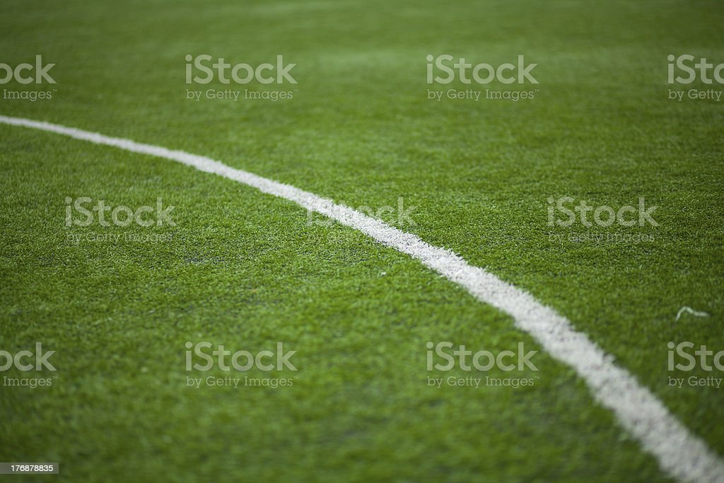 Football pitch markings royalty-free stock photo