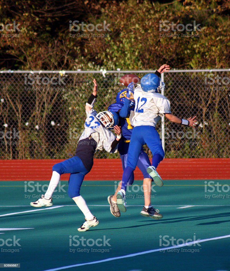 Football Play 1 stock photo