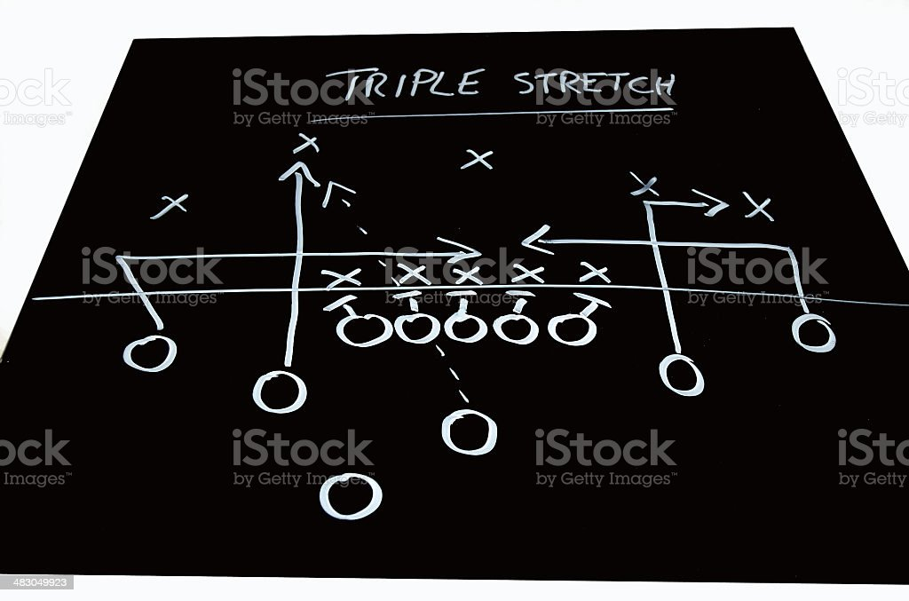 Football play 2 stock photo
