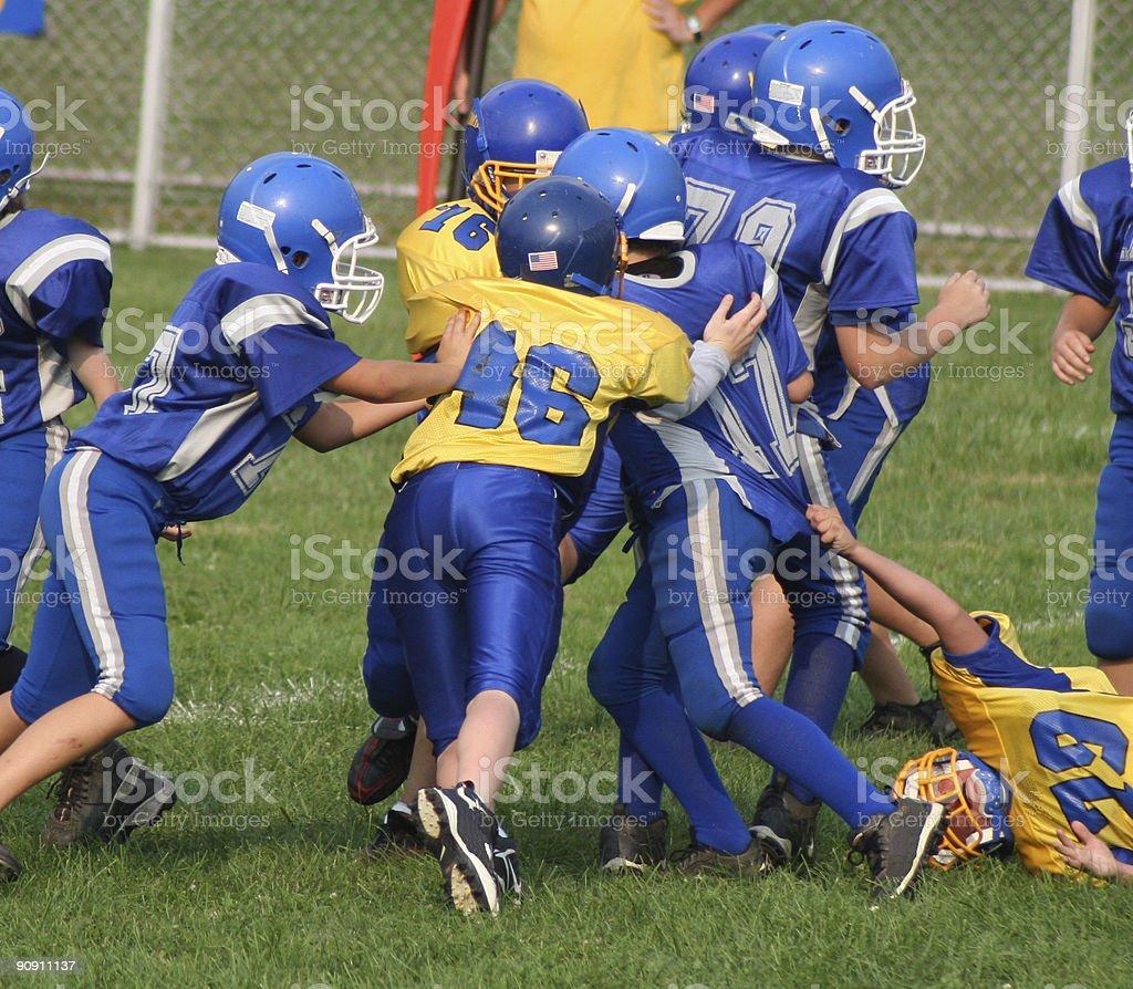 Football Play 4 (youth) stock photo