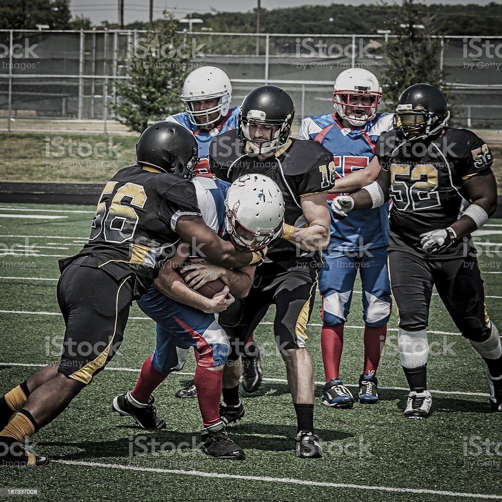 Football play in progress - VI royalty-free stock photo