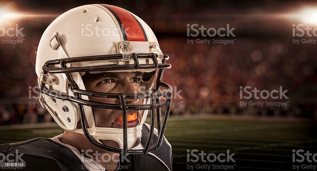 Football Player Close-up stock photo