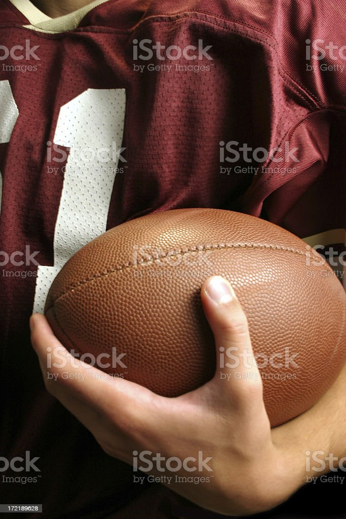 Football Player Cradle royalty-free stock photo