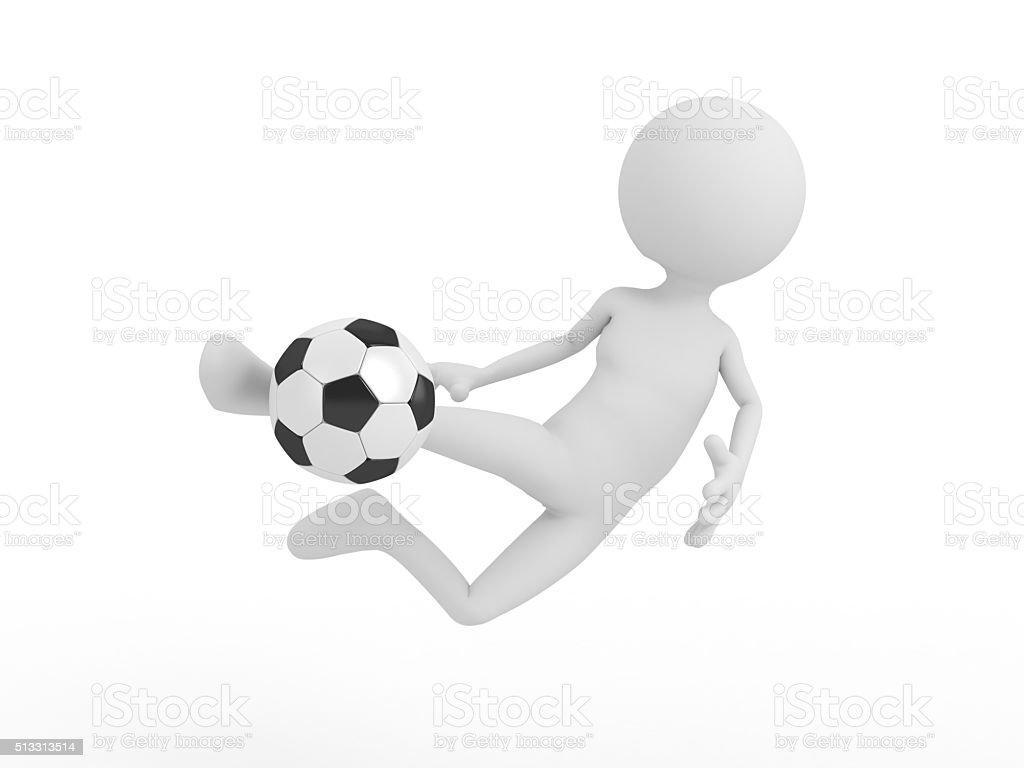 football player hits the ball stock photo