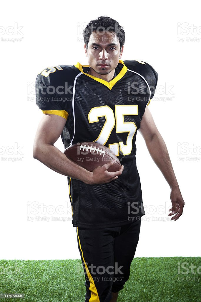 Football Player on White Background royalty-free stock photo