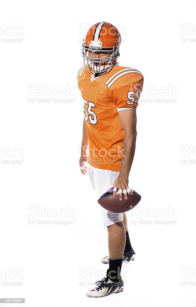 Football player royalty-free stock photo