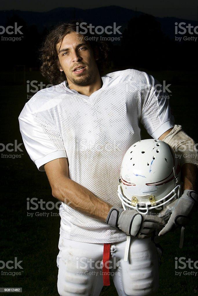 football player portrait stock photo