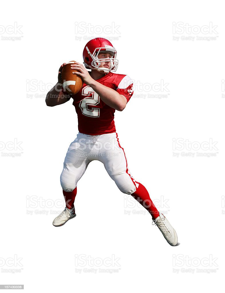 Football Player with Clipping Path stock photo