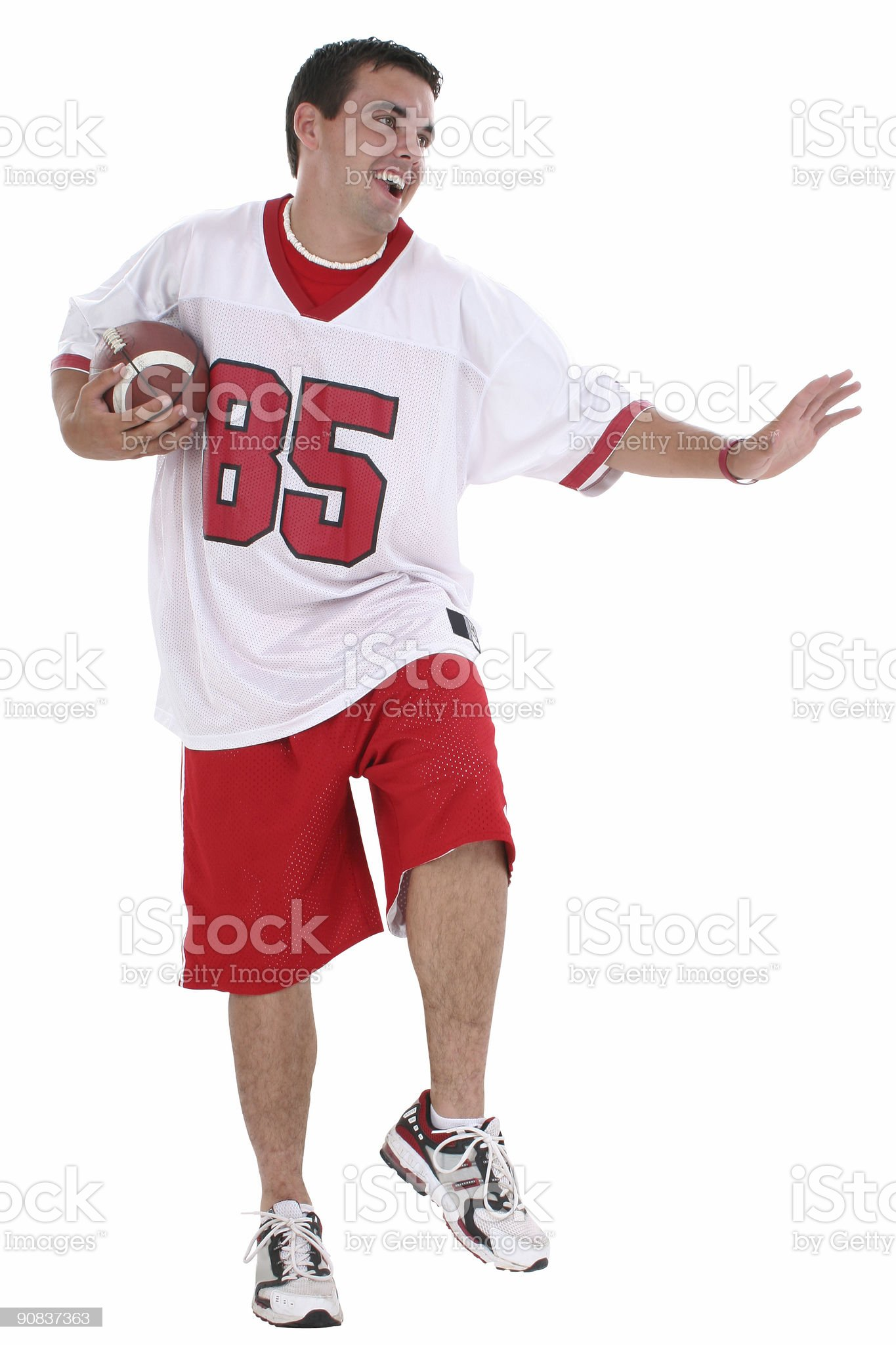 Football Player with Clipping Path royalty-free stock photo