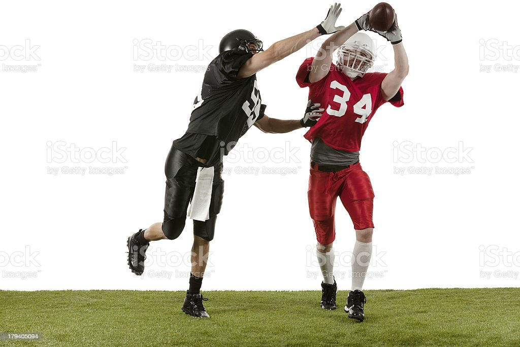 Football players in action royalty-free stock photo