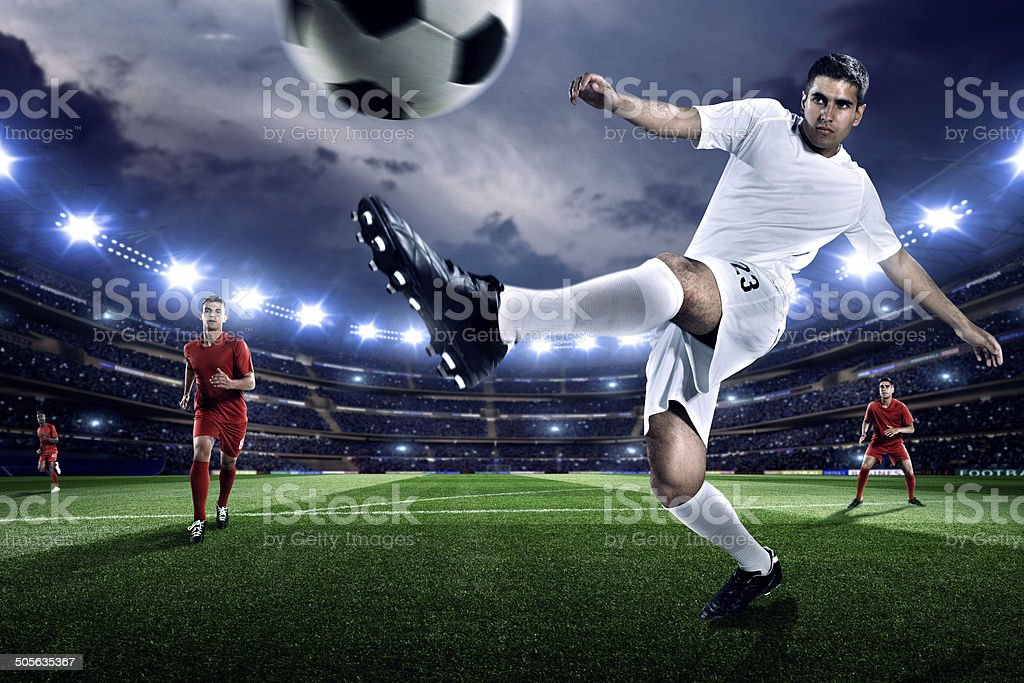 Football players royalty-free stock photo