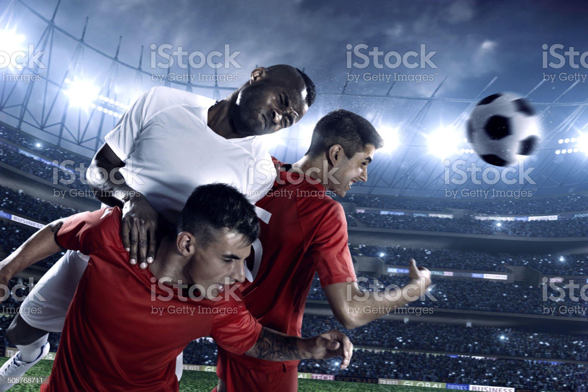 Football players royalty-free stock photo