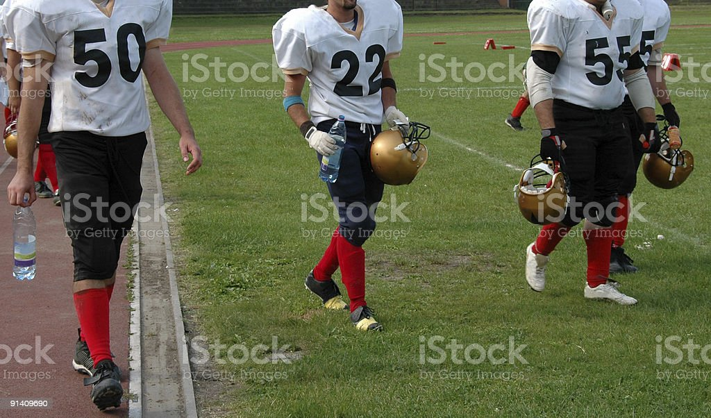 football players ready to play royalty-free stock photo