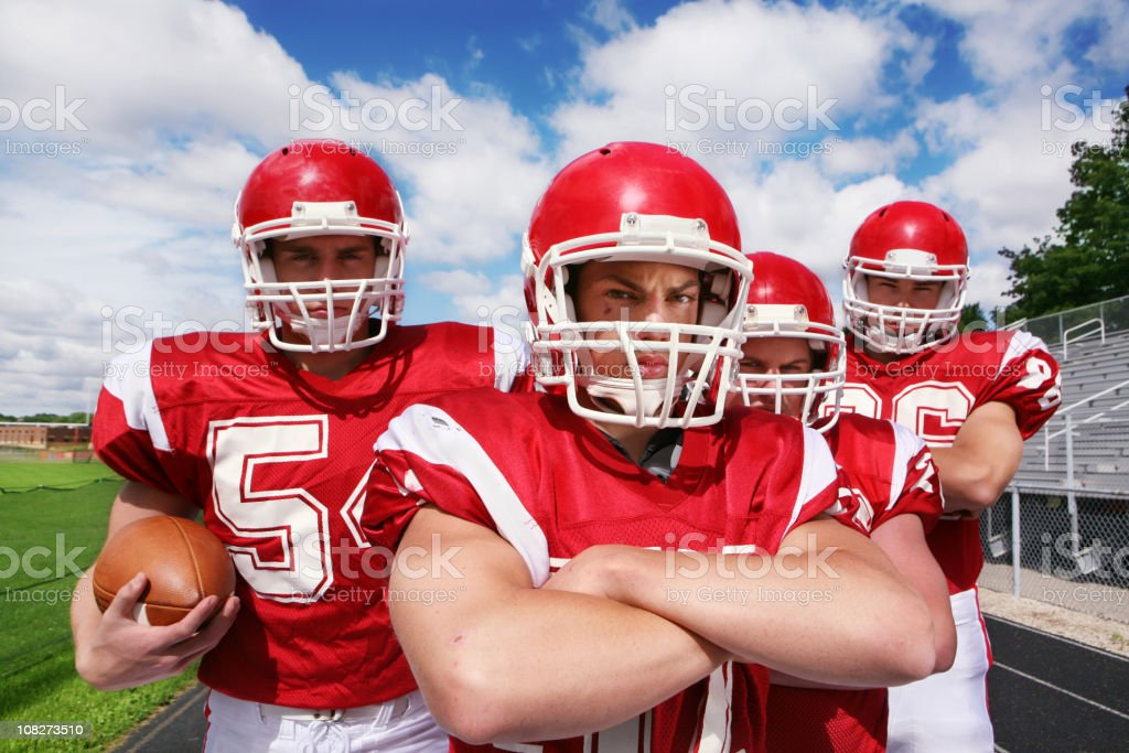 Football Players with Big Attitude royalty-free stock photo