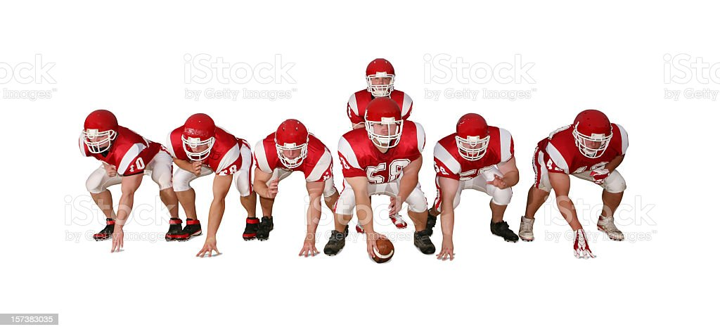 Football Players with Clipping Path royalty-free stock photo