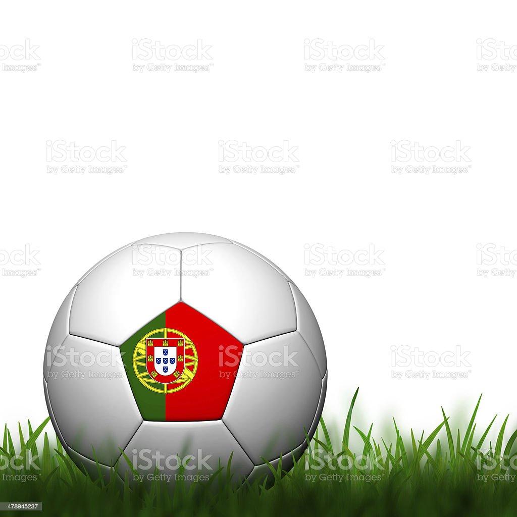 3D Football Portugal  Flag stock photo