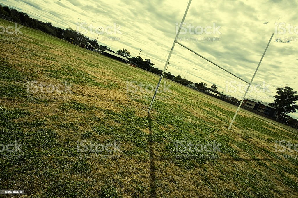 Football posts royalty-free stock photo