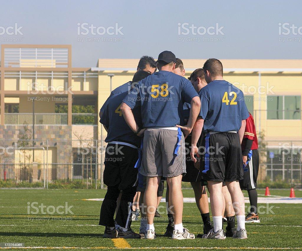 Football pow wow stock photo