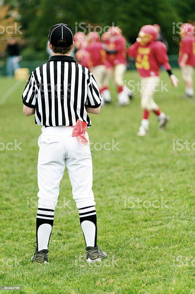 XXL football referee stock photo