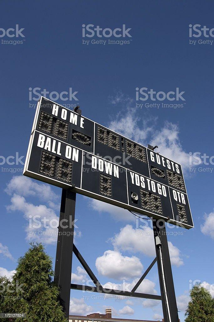 Football Scoreboard royalty-free stock photo