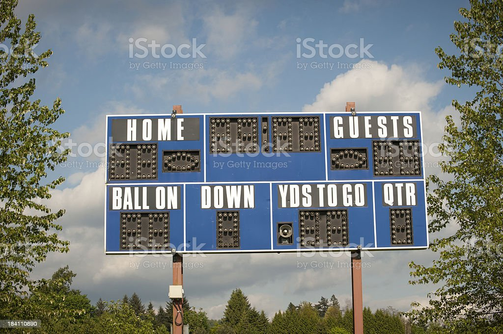 Football Scoreboard stock photo