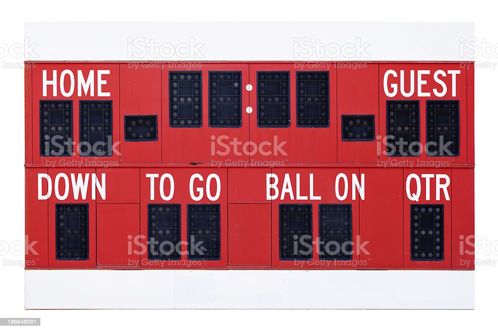 Football Scoreboard royalty-free stock photo