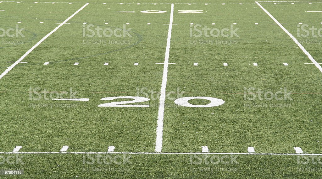 football scoring zone stock photo