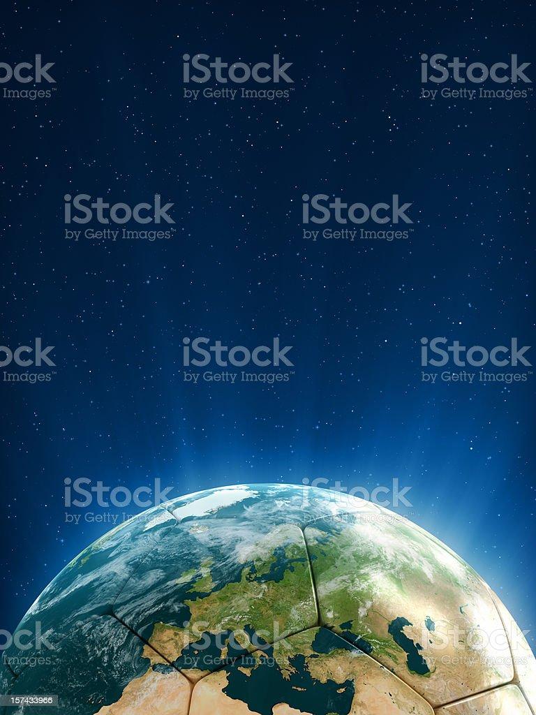 Football Shaped Globe (Europe) stock photo