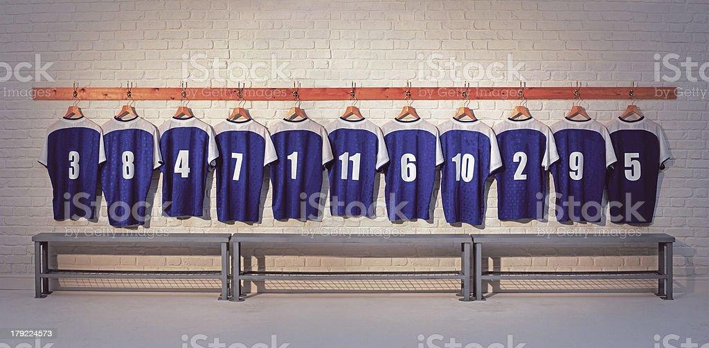 Football Shirts royalty-free stock photo