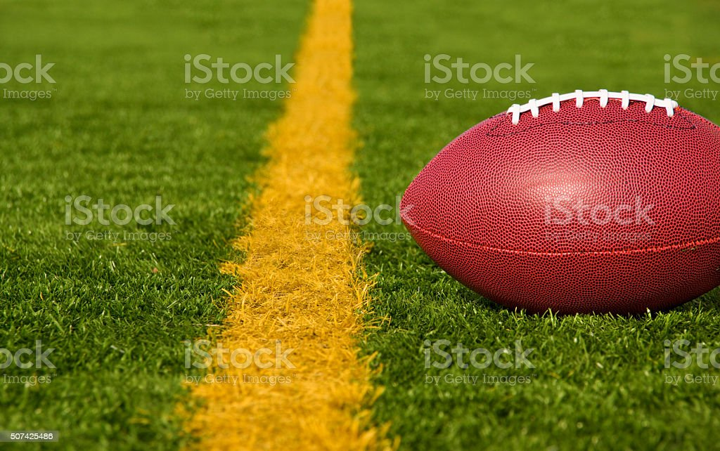 Football Short of the Goal Line Close stock photo