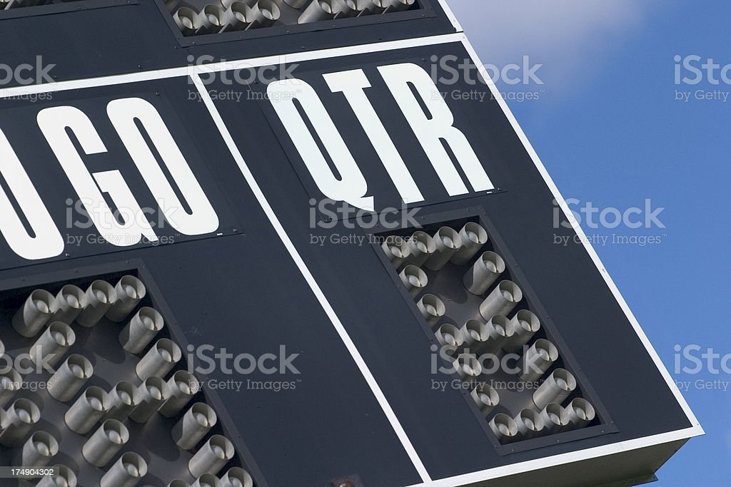 Football Sign royalty-free stock photo
