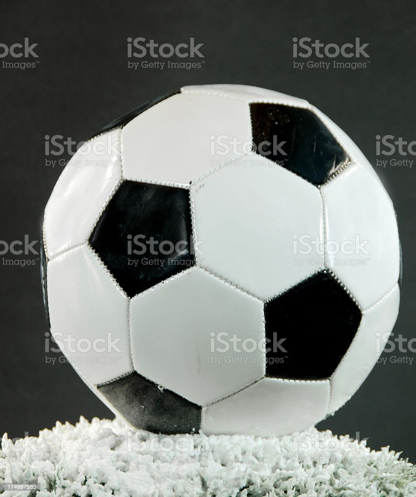 Football ... Soccer Ball In Snow royalty-free stock photo