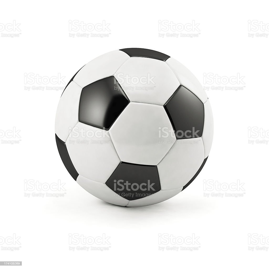 Football soccer ball royalty-free stock photo