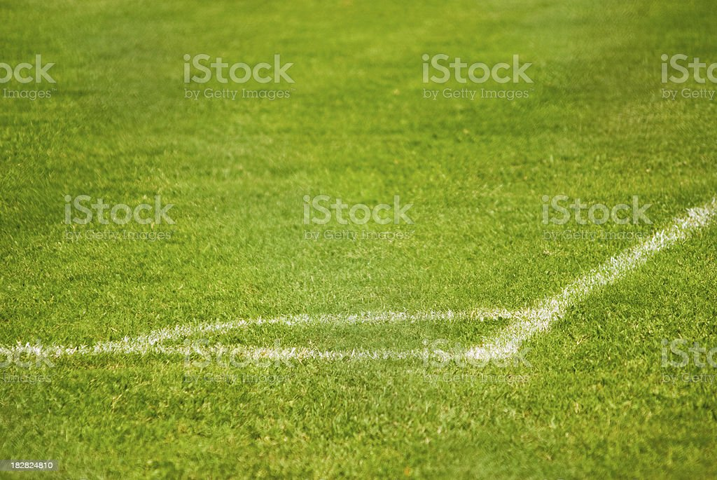 football soccer or baseball field and line marking stock photo