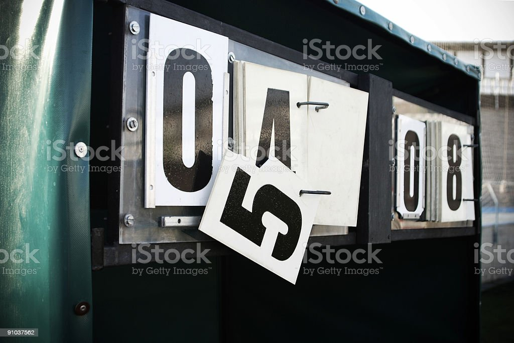 Football Soccer Score stock photo