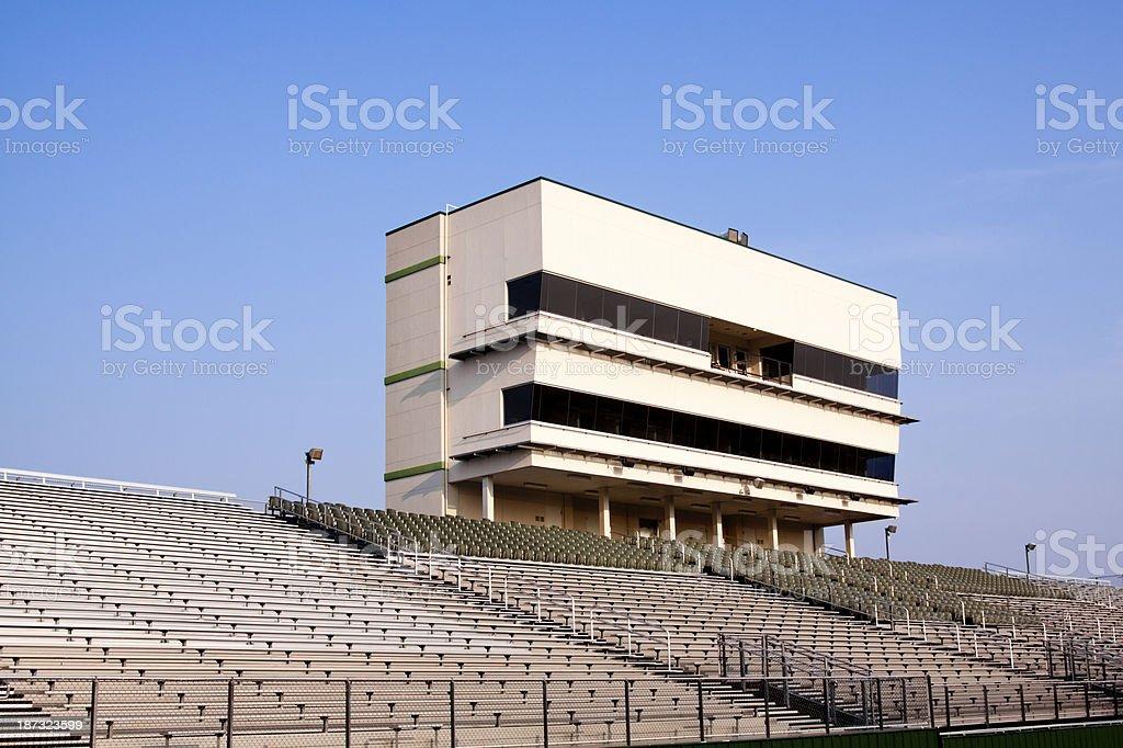 Football Stadium and Press Box stock photo