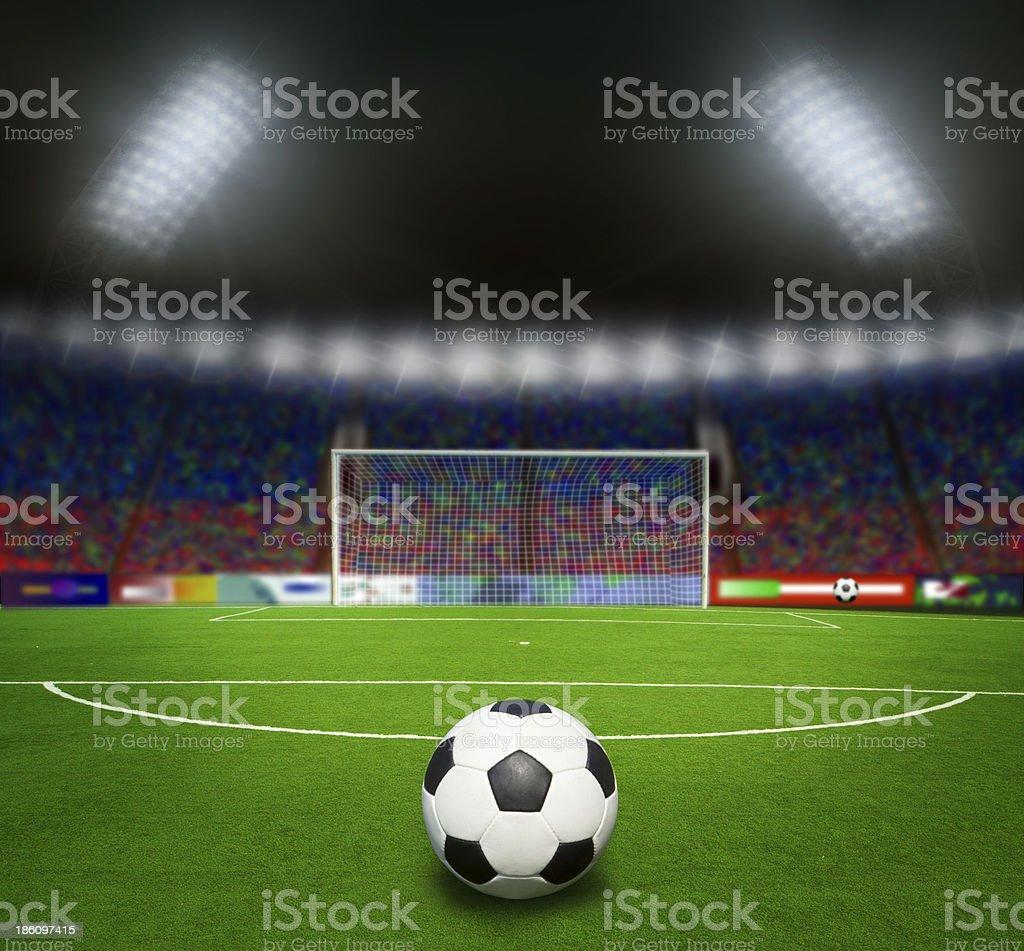 football stadium before the match stock photo