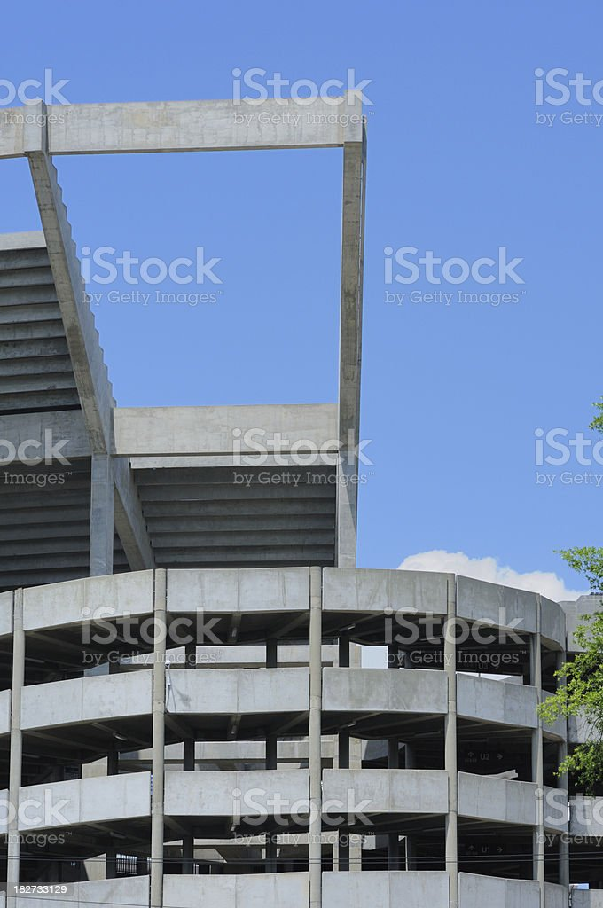 Football stadium construction stock photo