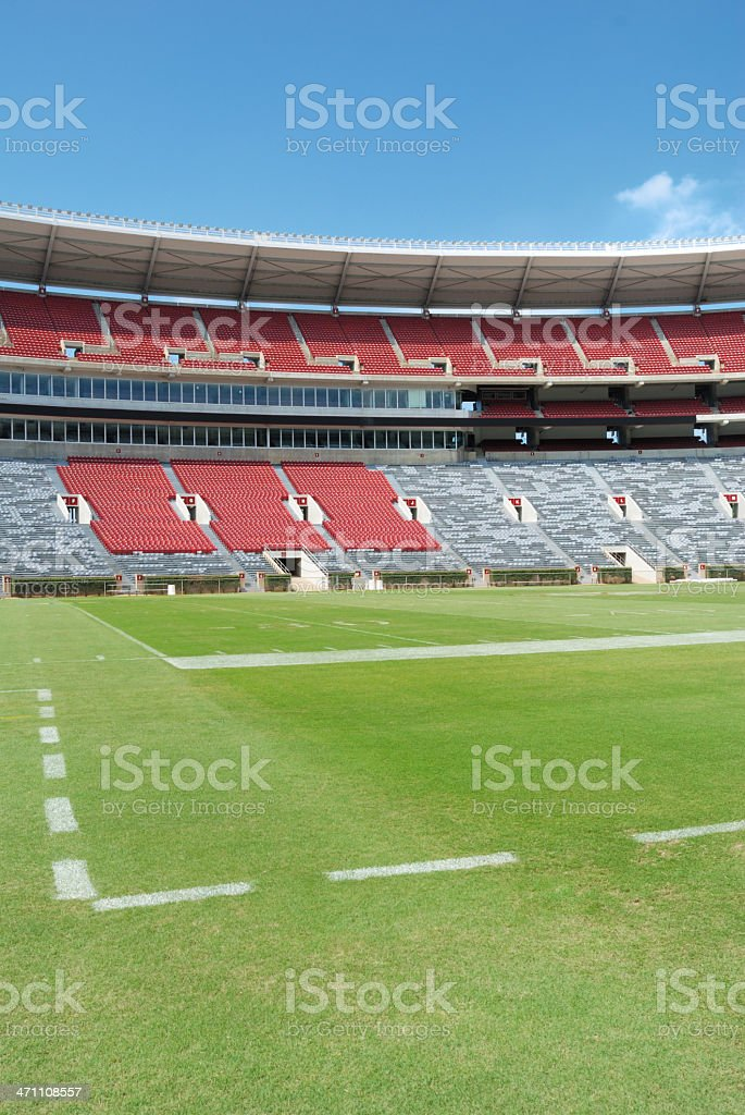 Football Stadium from Field Level royalty-free stock photo
