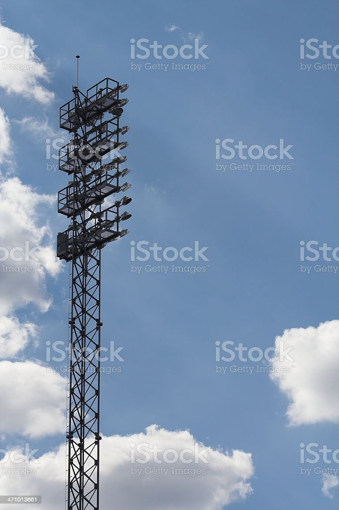Football Stadium Lights royalty-free stock photo